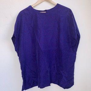 Vintage Plus Size 100# Silk Top